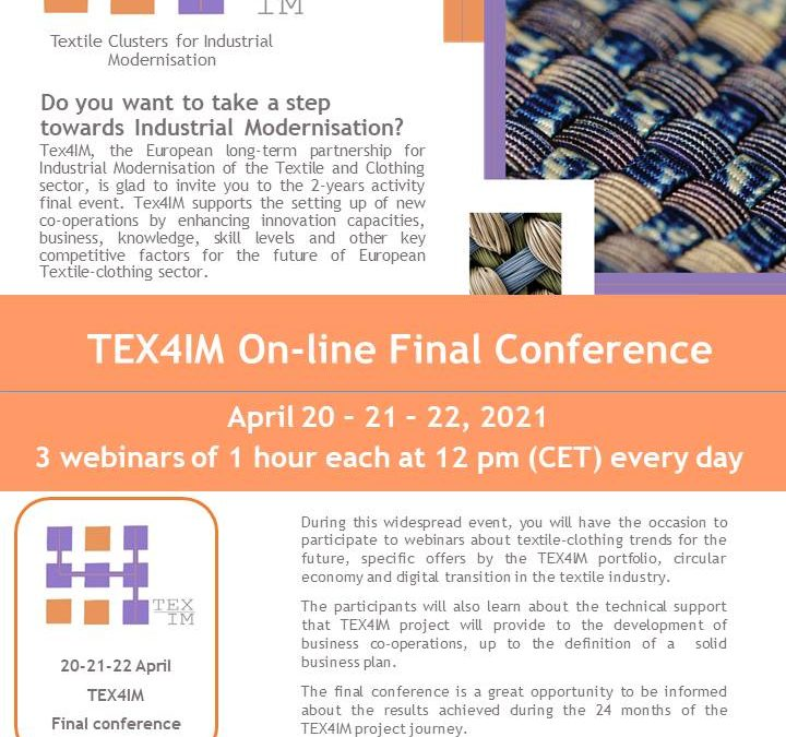 TEX4IM On-line Final Conference, April 20-22, 2021
