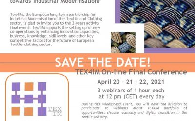 Save the date: TEX4IM On-line Final Conference, April 20-22, 2021