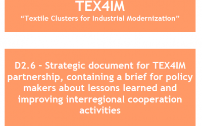D2.6 – Strategic document for TEX4IM partnership, containing a brief for policy makers about lessons learned and improving interregional cooperation activities